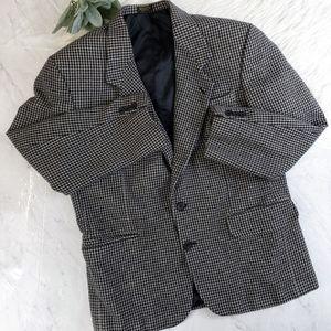 Oscar De La Renta Mens Houndstooth Wool Blazer